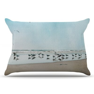 Sylvia Cook Sea Blue Coastal Pillow Case