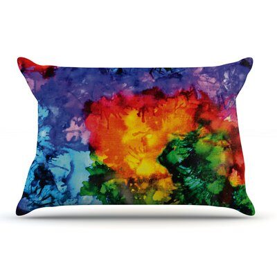 Claire Day Karma Rainbow Paint Pillow Case