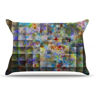 Michael Sussna 'Yggdrasil' Rainbow Abstract Pillow Case