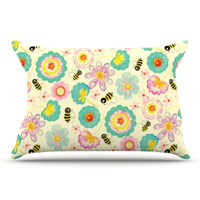 Louise Machado Floral Bee Pillow Case