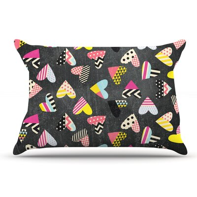 Louise Machado Pieces Of Heart Pillow Case