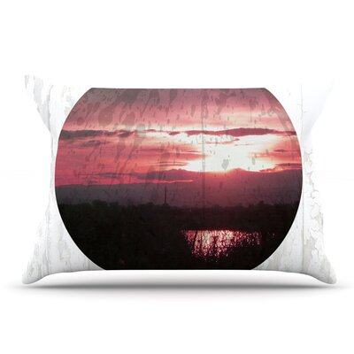 Micah Sager 'Valley' Sunset Splatter Pillow Case