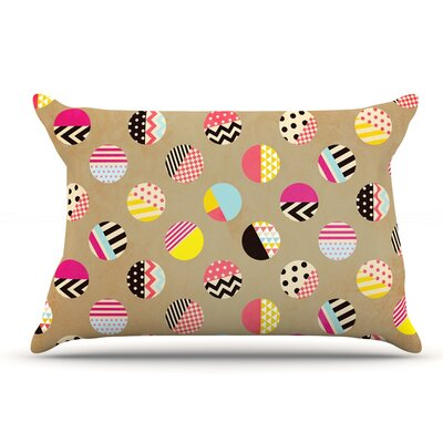 Louise Machado Fun Circle Geometric Pillow Case