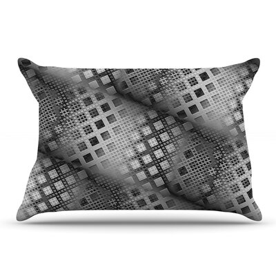 Michael Sussna 'Array Decay' Checkered Pillow Case