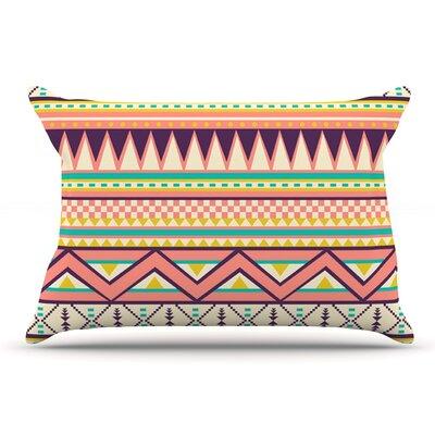 Louise Machado Ethnic Love Tribal Geometric Pillow Case