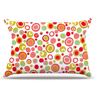 Louise Machado Bubbles Warm Circles Pillow Case