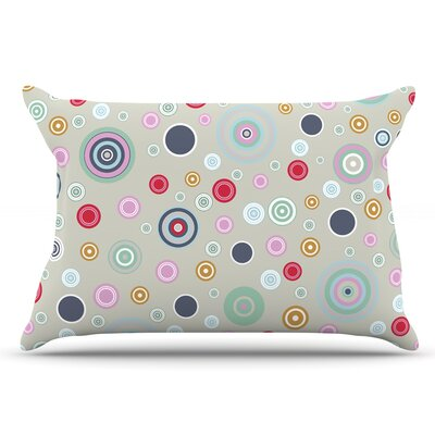 Suzanne Carter Circle Circle I Pillow Case Color: Gray/Brown