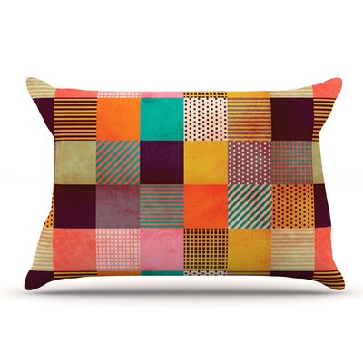 Louise Machado Decorative Pixel Warm Patches Pillow Case
