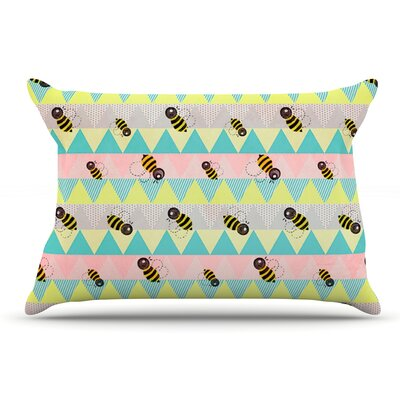 Louise Machado Little Bee Pastel Pillow Case