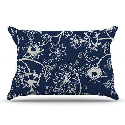 Laura Nicholson Passion Flower Floral Pillow Case