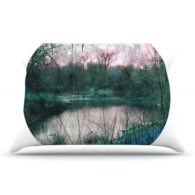 Micah Sager Swamp Lake Circle Pillow Case