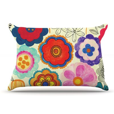 Louise Machado Charming Floral Floral Pillow Case