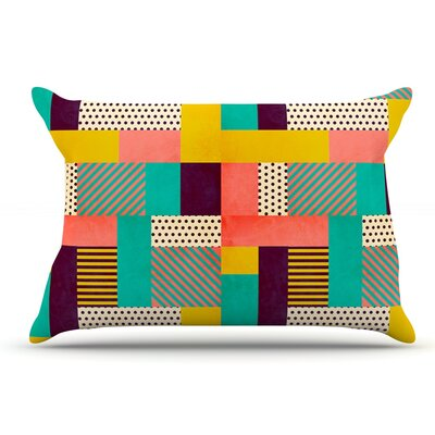 Louise Machado Geometric Love Abstract Pillow Case