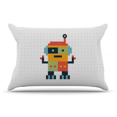 Daisy Beatrice Happy Robot Pillow Case