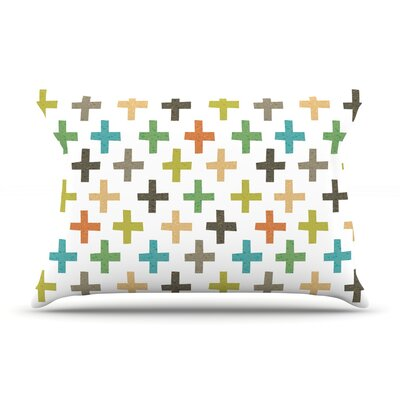 Daisy Beatrice Hipster Crosses Repeat Pillow Case