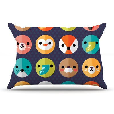 Daisy Beatrice Smiley Faces Animals Pillow Case