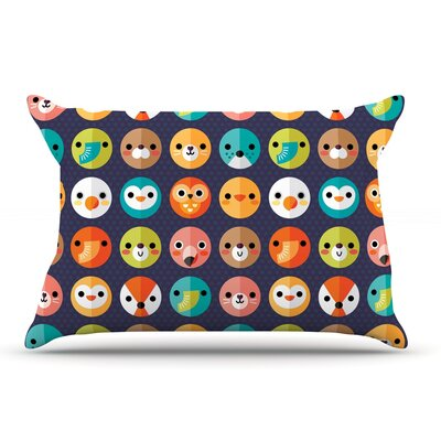 Daisy Beatrice Smiley Faces Repeat Animal Pillow Case