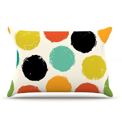 Daisy Beatrice Retro Dots Circles Pillow Case