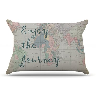 Catherine Holcombe Journey World Map Pillow Case