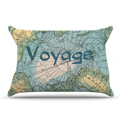 Catherine Holcombe Voyage Map Pillow Case