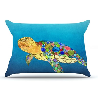 Catherine Holcombe Bubbles Turtle Pillow Case