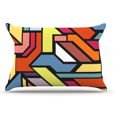 Danny Ivan Abstract Shapes Pillow Case
