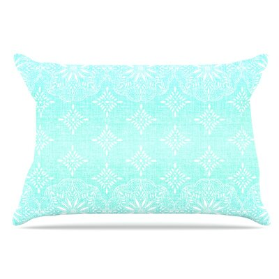 Suzie Tremel Medallion Ombre Pillow Case Color: Blue/Teal