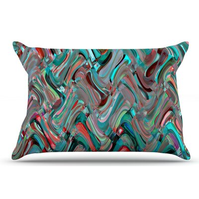 Suzanne Carter Abstract Wave Abstract Pillow Case