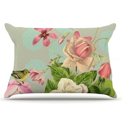 Suzanne Carter Vintage Garden Cush Flowers Pillow Case