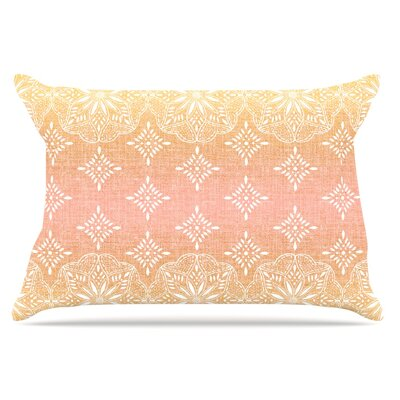 Suzie Tremel Medallion Ombre Pillow Case Color: Blush/Pink