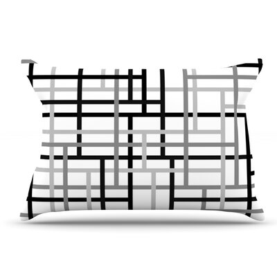 Trebam Veza Modern Lines Pillow Case Color: Gray