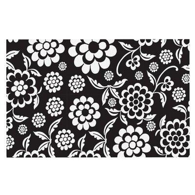 Nicole Ketchum Cherry Floral Doormat Color: Black