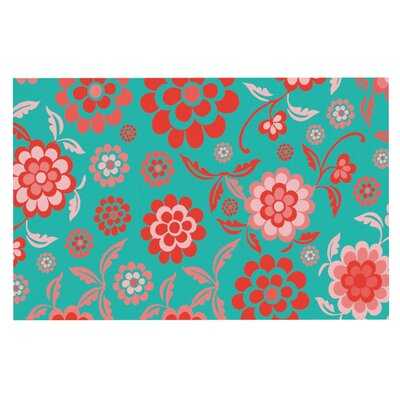 Nicole Ketchum Cherry Floral Doormat Color: Sea