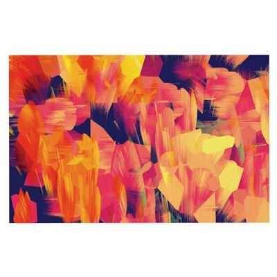 Kathryn Pledger Geo Flower Abstract Doormat