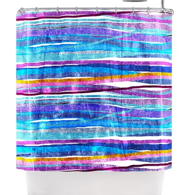Frederic Levy-Hadida Fancy Stripes Light Shower Curtain Color: Dark Blue