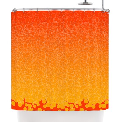 Frederic Levy-Hadida Bubbling Red Shower Curtain Color: Red