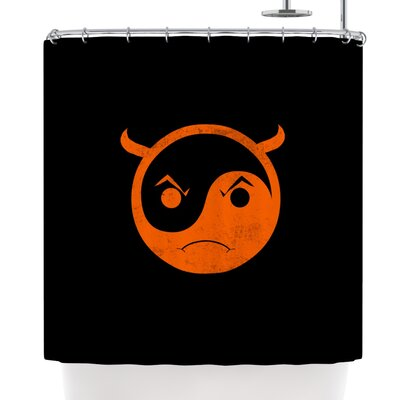 Frederic Levy-Hadida Yin Yang Diablo Shower Curtain