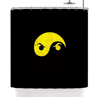 Frederic Levy-Hadida Yin Yang Ninja Shower Curtain