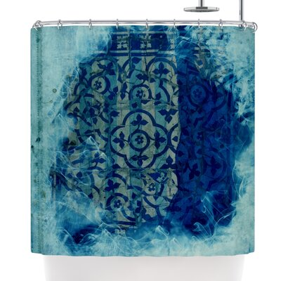 Frederic Levy-Hadida Mosaic in Cyan Shower Curtain