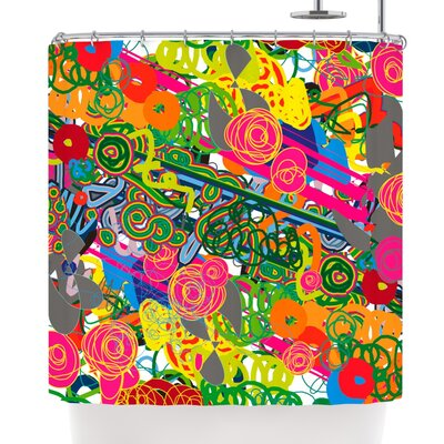 Frederic Levy-Hadida Psychedelic Garden Shower Curtain