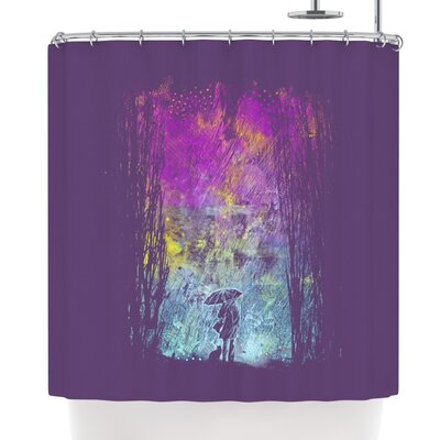 Frederic Levy-Hadida Purple Rain Shower Curtain