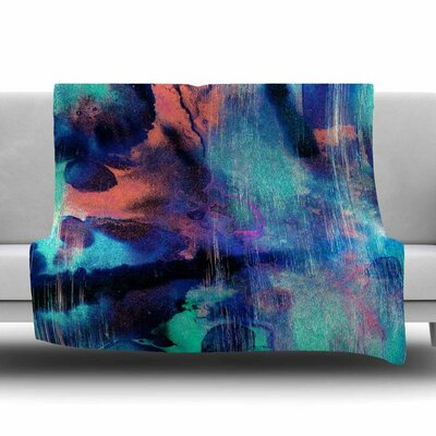 Grotto Falls by Nina May Fleece Blanket Size: 50 W x 60 L