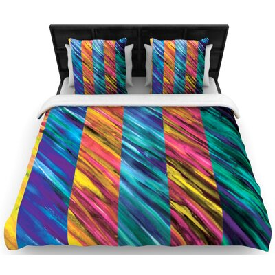 Set Stripes I Woven Comforter Duvet Cover Size: King