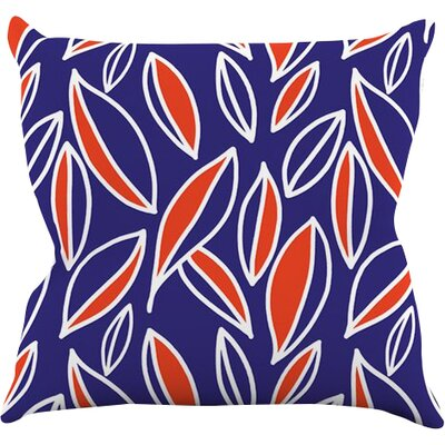 Leaving by Emine Ortega Throw Pillow Size: 16 H x 16 W x 1 D, Color: Orange