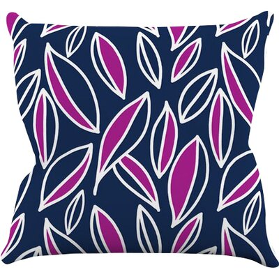 Leaving by Emine Ortega Throw Pillow Size: 26 H x 26 W x 1 D, Color: Magenta