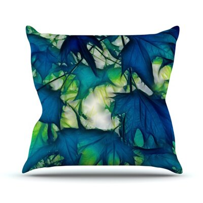 Leaves Throw Pillow Size: 18 H x 18 W