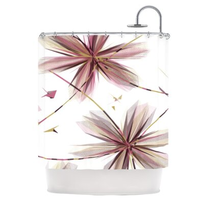 Flower Shower Curtain Color: Aubergine