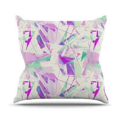 Shatter Throw Pillow Size: 16 H x 16 W, Color: Purple