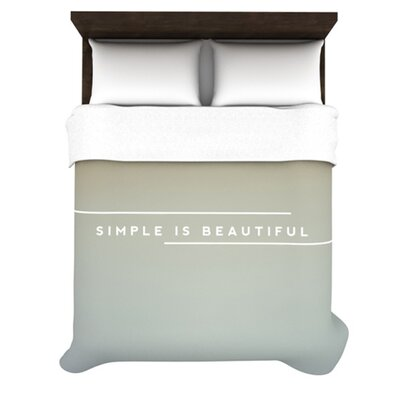 Simple is Beautiful by Galaxy Eyes Woven Duvet Cover Size: King/California King