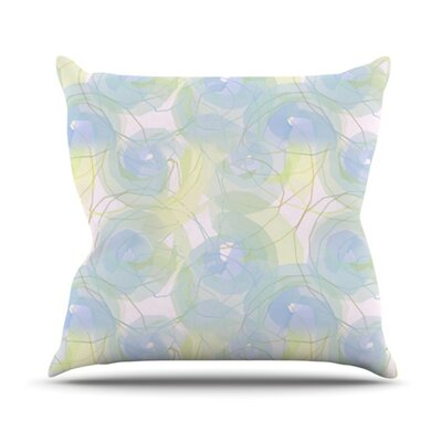 Paper Flower Throw Pillow Size: 26 H x 26 W